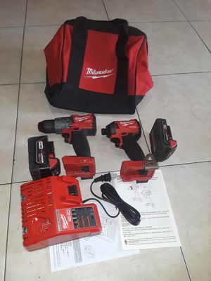 Milwaukee M18 FUEL 18-Volt Lithium-Ion Brushless Cordless Hammer Drill and Impact Driver Combo Kit (2-Tool) with batteries . for Sale in Anaheim, CA