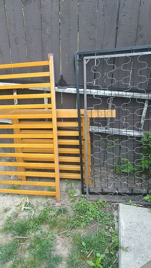 Baby bed frame and 2 box springs for sale for Sale in Lapeer, MI