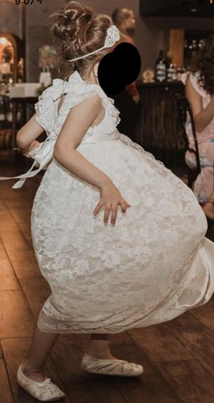 Long White Lace Flower Girl Dress - Size 5 (120 cm) for Sale in Phoenix, AZ