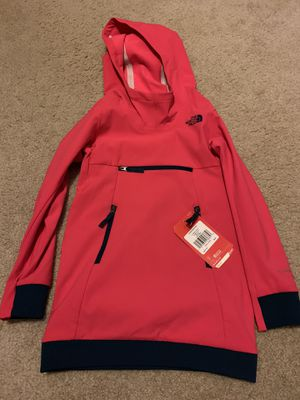 """The north face girls atomic pink """"hoody""""/lightweight jacket size 6 for Sale in Carol Stream, IL"""