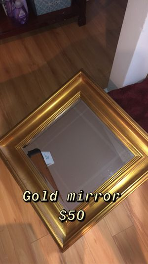 Gold wall or vanity mirror for Sale in Shoreline, WA
