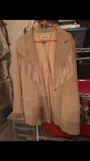 Suede Jacket with Fringe for Sale in Bakersfield, CA
