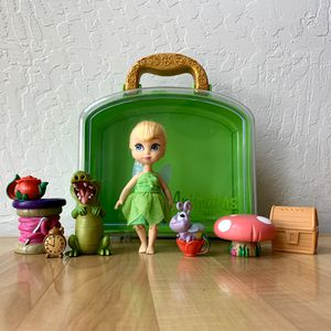 Disney Parks Animator's Collection Tinker Bell Articulated Posable Mini Doll Toy Set With Carry Case And Accessories for Sale in Elizabethtown, PA