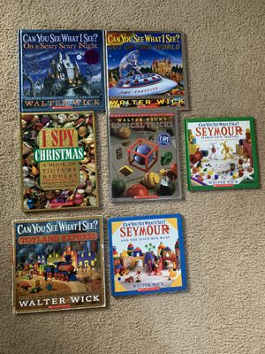 Walter Wick ispy seek and find Christmas Halloween toys shapes books for Sale in Virginia Beach, VA