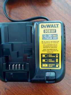 DEWALT 12V/20V MAX LITHIUM ION BATTERY CHARGER. $30.00. NEW PICK UP ONLY !!! for Sale in San Leandro,  CA