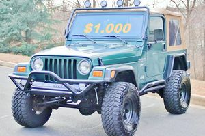 🔥🔑🔑$1000🔑🔑 For Sale URGENT 🔑🔑2000 Jeep Wrangler CLEAN TITLE🔑🔑 for Sale in Fort Lauderdale, FL