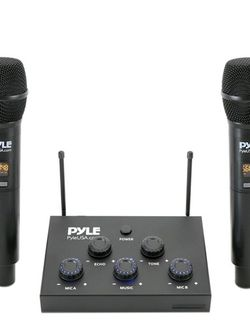 Wireless Karaoke Microphone Mixer System - 8-Channel Optical/Coaxial Input Mixer w/Digital UHF Wireless Mics, 3.5mm Input/Output, Works w/Home Theater for Sale in Irving,  TX