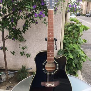 De Rosa 12 String Electric Acoustic Guitar With Soft Case Strap Cable And Pick for Sale in Downey, CA