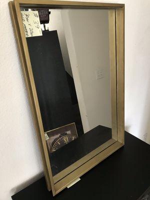"Golden metallic wall mirror 30 x 20"" for Sale in Fresno, CA"