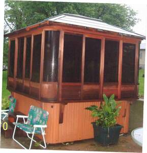"Hot Tub Gazebo Enclosure 91"" x 91"" x 34"" turn your Spa into 3-4 Season Comfort for Sale in Lake Barrington, IL"
