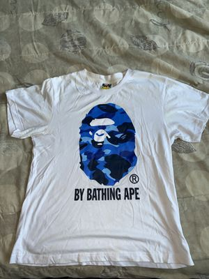Bape T-shirt Blue Camo Size Medium for Sale in Saratoga, CA