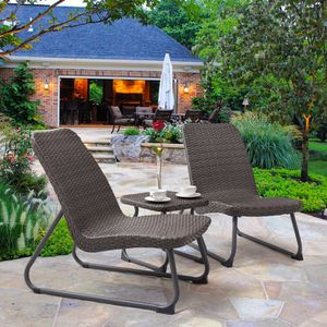 New 3 Piece Outdoor All Weather Rattan Conversation Set. for Sale in Chino Hills, CA
