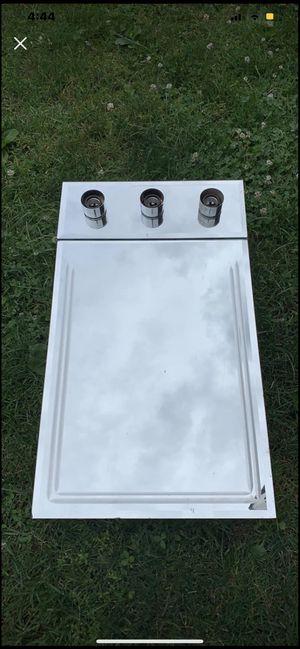 Small 3 light mirror mirrored bathroom medicine cabinet for Sale in Irwin, PA