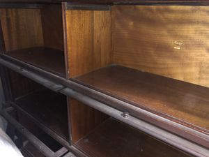 Antique Mahogany Stacking Barrister Bookcase. Four high, double wide. for Sale in Seattle, WA