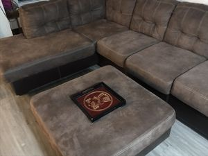 HUGE microfiber sectional couch for Sale in Tacoma, WA