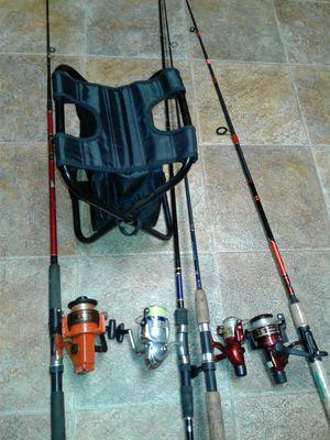 Fishing Rods + sitter for Sale in Virginia Beach, VA