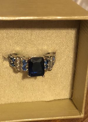Beautiful sapphire and topaz ring for Sale in Plato, MO