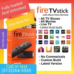 Fire tv stick - with the latest Content and much more - This is the easiest setup you will find for Sale in Dearborn Heights, MI