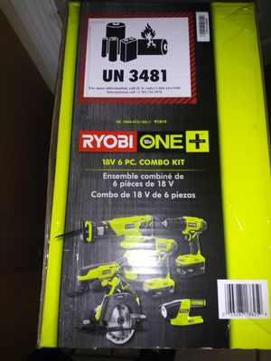 6 pc ryobi kit new/unopened for Sale in Warminster, PA