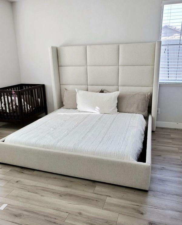 Modern king bed.