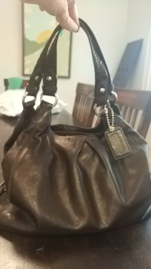 Coach bag, black with purple lining for Sale in Orlando, FL