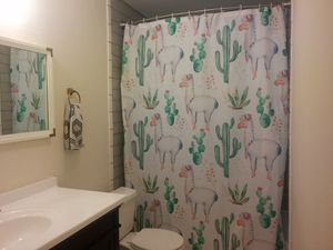 Cactus and Llama shower curtain with brand new liner for Sale in Washington, DC