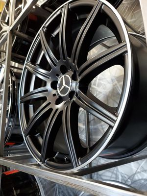 19x8.5 and 19x9.5 +35 offset 5x112 Mercedes black machine lip amg style wheels rims for Sale in Tempe, AZ