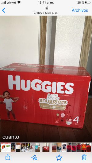 HUGGIES SIZE 4 100 pañales for Sale in Lynwood, CA