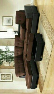 SPECIAL] Heights Chocolate/Black Reversible Sectional with Storage Ottoman Couch Sofa for Sale in Houston, TX