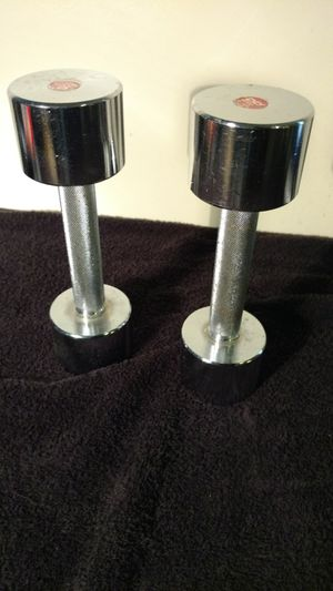 Set of 2 steel 8 lb dumbbells for Sale in Columbus, OH