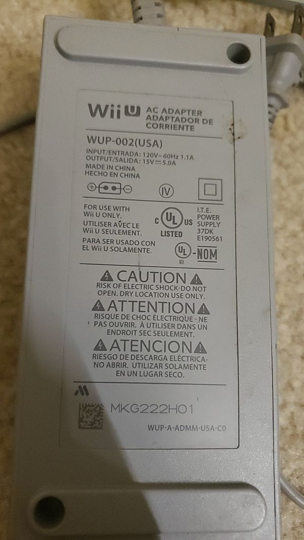 WiiU power cord 5$
