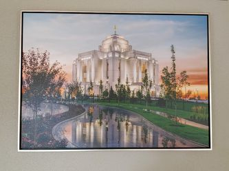 Meridian LDS Temple Giclee Framed Print for Sale in Eagle,  ID