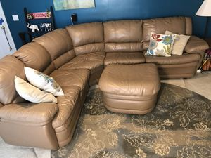 Sectional Sleeper Sofa Ottoman Leather for Sale in Durham, NC