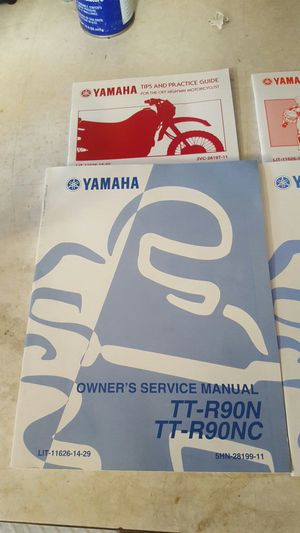 Yamaha TTR 90 Motorcycle Owner Service Manual for Sale in Tempe, AZ