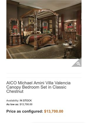 Aico King bed 2 nightstands Dresser ,mirror for Sale in Yorba Linda, CA