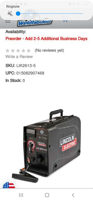 Used lincoln Ln 25 pro suitcase welder for Sale in Portland, OR