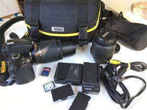 Nikon D5000 12.3 MP DX Digital SLR Camera with AF-S 18-55mm f/3.5-5.6G VR Lens and AF-S Nikkor 55-200m 4-5.6 VR Lense and 2.7-inch Vari-angle LCD for Sale in Orlando, FL