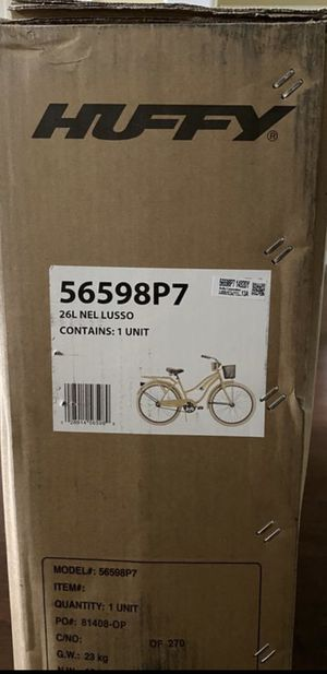 """Offer up! New in box! Huffy Nel Lusso Classic Cruiser Bike Yellow 26"""" for Sale in Kissimmee, FL"""
