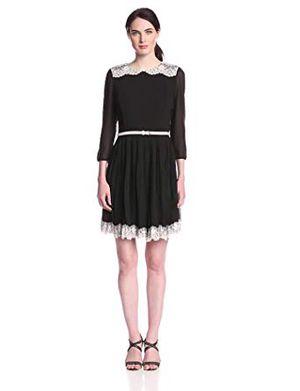 Ted baker Olivia black lace Pleated embroidery dress for Sale in Herndon, VA
