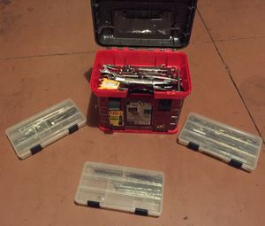 Stow n go toolbox w tools for Sale in Apopka, FL