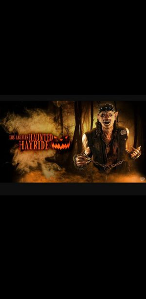 Haunted hayride 4 tickets $20 each for Sale in Los Angeles, CA
