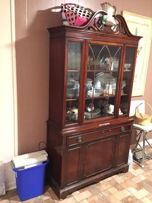 Chestnut Antique China Cabinet for Sale in Nashville, TN