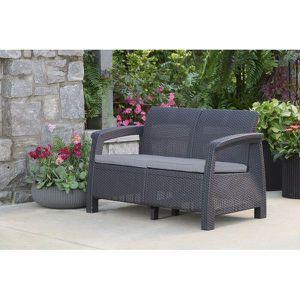 Keter Outdoor Patio Furniture Garden Mueble Sofá Silla Mueble de Jardín Corfu for Sale in Miami, FL