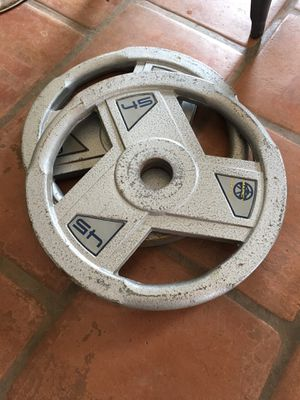 2-45lb marcy weight plates for Sale in Chula Vista, CA