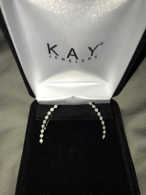 Earring Climbers Kay Jewelers 1/15 ct tw Diamonds Sterling Silver for Sale in Tampa, FL