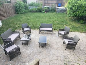 4 chairs 2 couch 2 tables patio set for Sale in Washington, DC