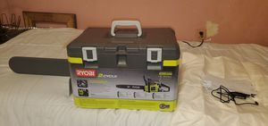 RYOBI 2cycle gas chainsaw for Sale in Baltimore, MD