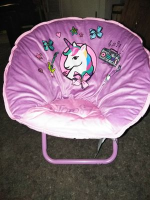 New jojo siwa toddler sized saucer chair for Sale in Highland, CA