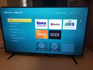 "Hisense 50"" LED Roku smart tv for Sale in Herndon, VA"