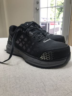 Aster Aluminum Toe Style NUMBER 74378. Black and Gray Color. Never Worn! New. Ace Women's Work Boots with Slip Resistant Bottom. for Sale in Greensboro, NC